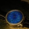 Email grand efu. Srebro 36 mm. Giloszowane. Emalia Shauer.