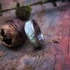 Turkus naturalny wkomponowany w tytanową obrączkę