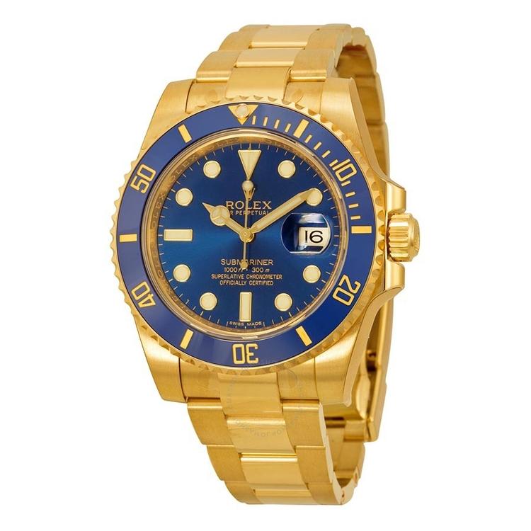 rolex-submariner-blue-dial-18k-yellow-go