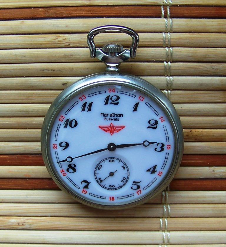 Zegarki Nakręcane Kolejarskie Naręczne i Kieszonkowe