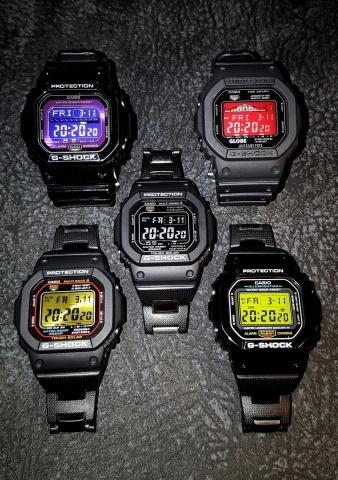 CASIO G-SHOCK DW-M5610/30MOD, GW-M5600BC, GLS-5600L, GRX-5600GE, DW-5600-MOD/CS
