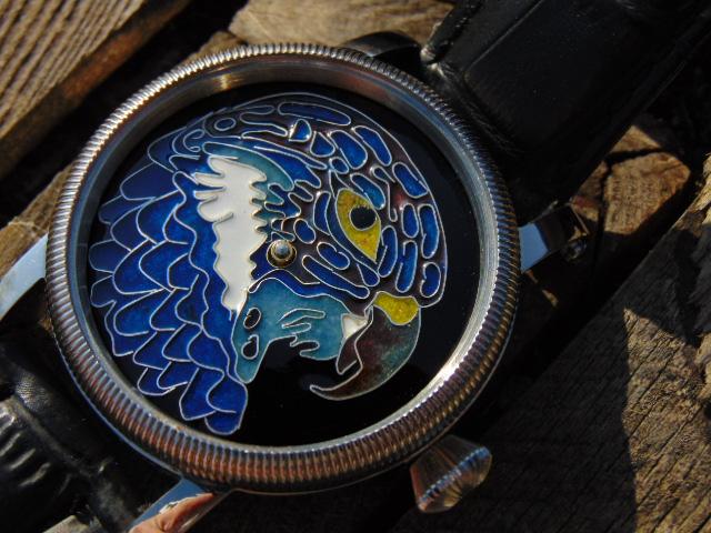 """""""Eagle""""  - enamel cloisonne dial."""