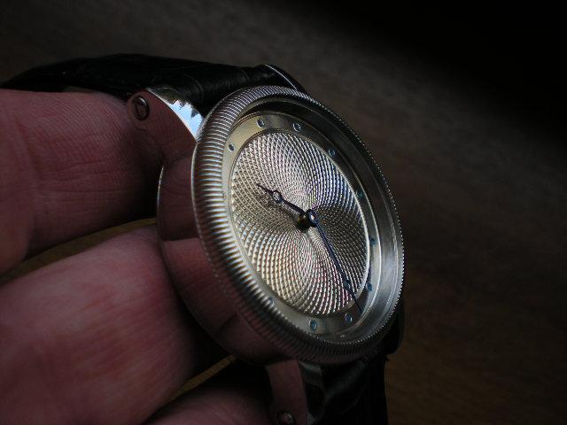 Hand guilloche watch dial. Diameter 36 mm. Made by Leszek (L/K)