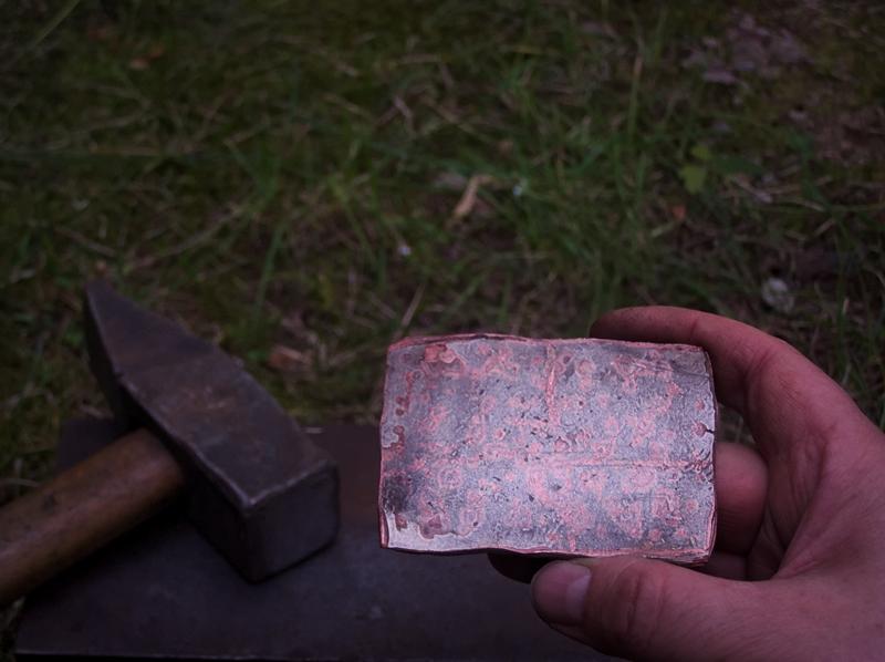 Przekuty blok mokume gane