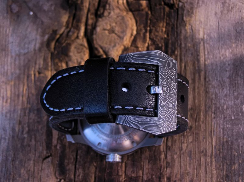 Klamra pre-v (stainless damascus steel)