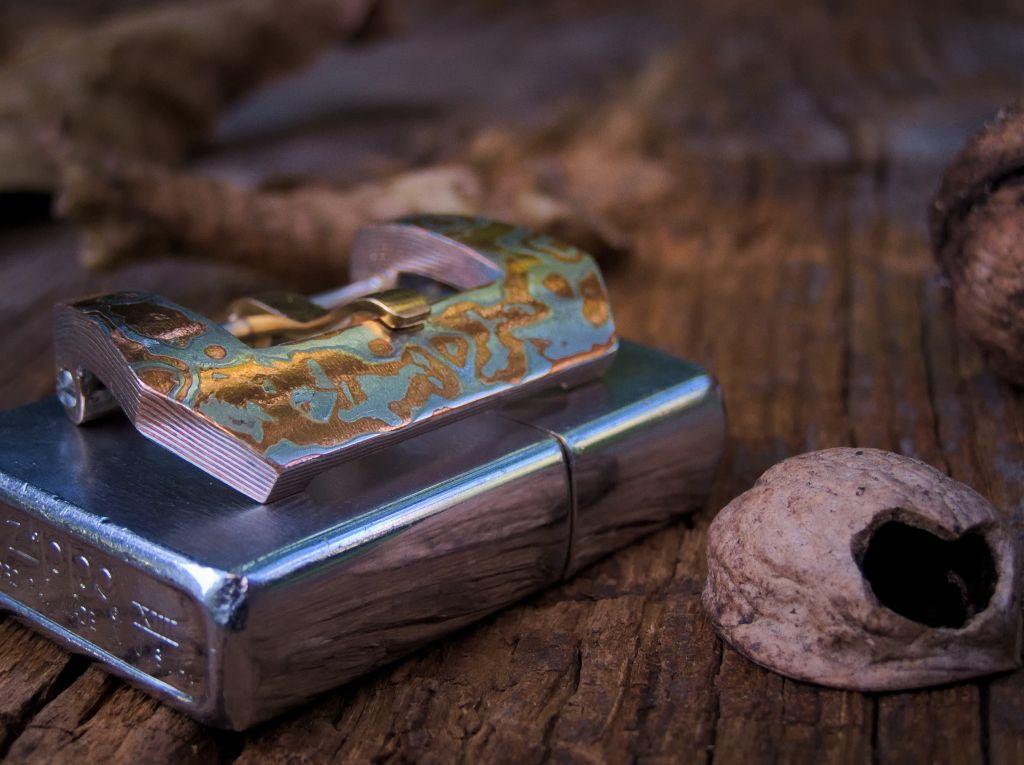 Klamra z mokume gane 26mm