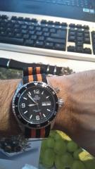 Orient Mako Black czarno pomaranczowe nato