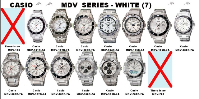 Casio MDV series   white (7)