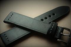 Czarna skóra 22mm. klamra 20mm.