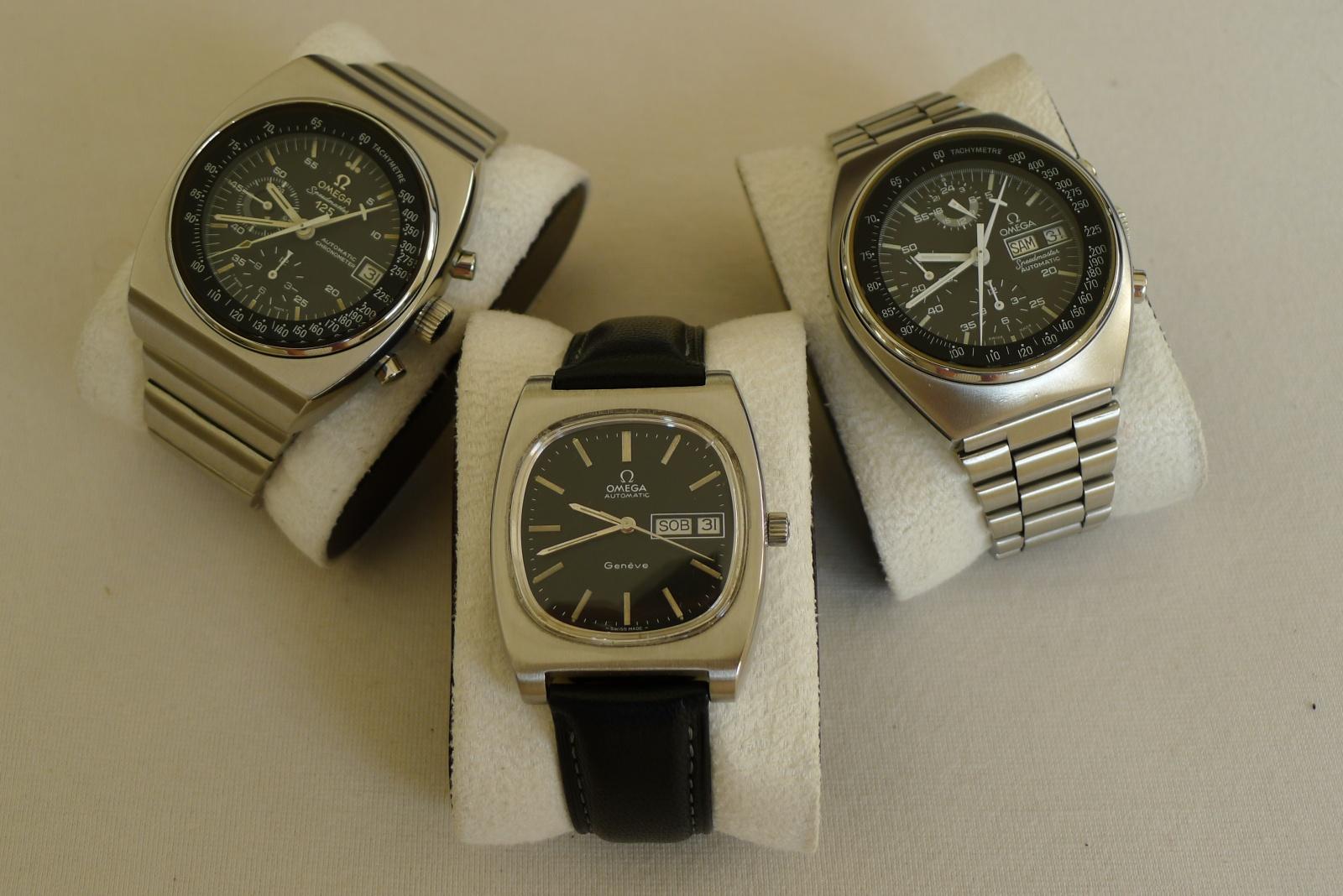 OMEGA x 3 , Speedmaster 125 1973, Geneve PL 1977 i Speedmaster Mark 4.5 1982