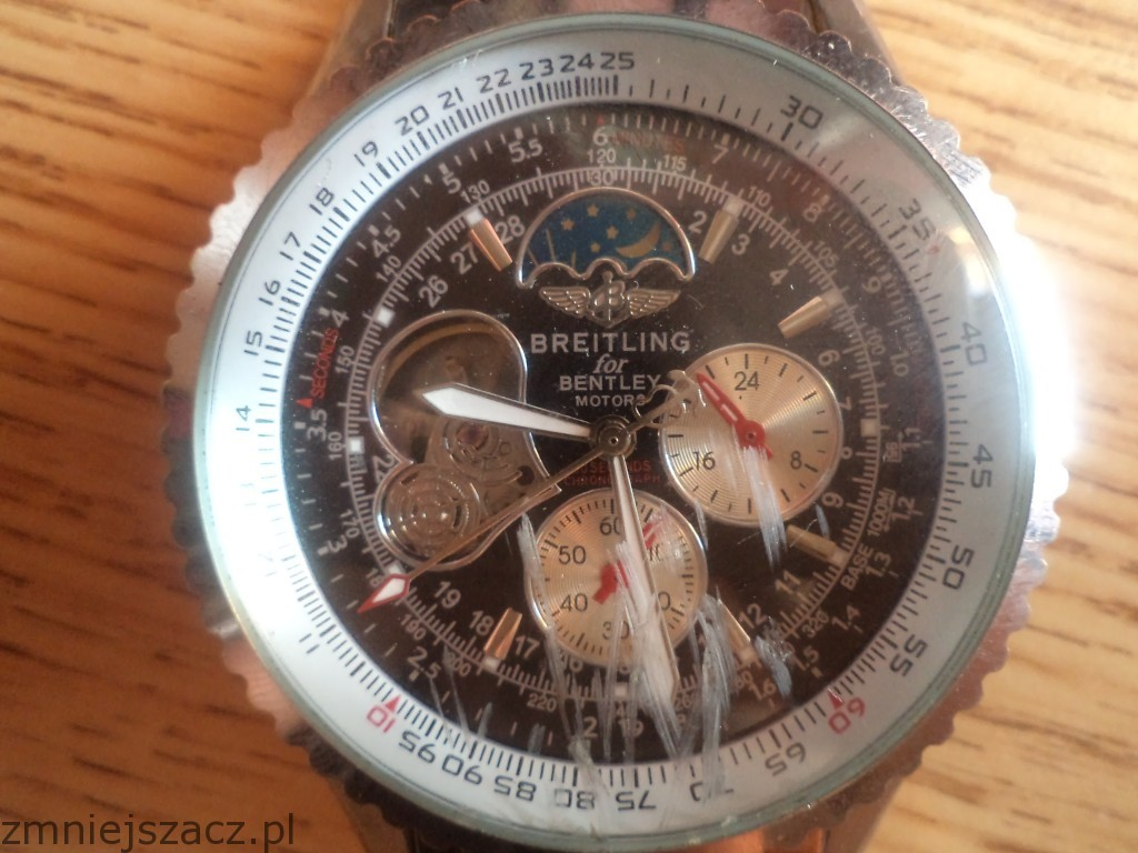w and motors i steel bentley bezel edition watch special diamond wmop breitling stainless dial mop