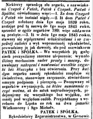 Gazeta Warszawska 1849_Patek o Czapku.jpg