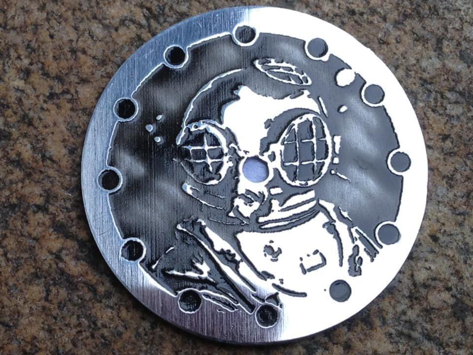 Diver helmet - steel