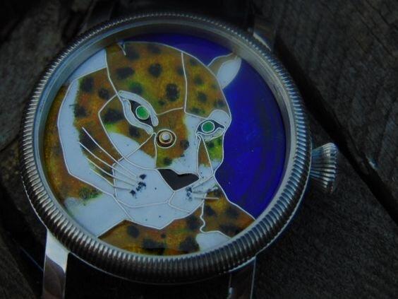 Tiger - enamel cloisonne dial