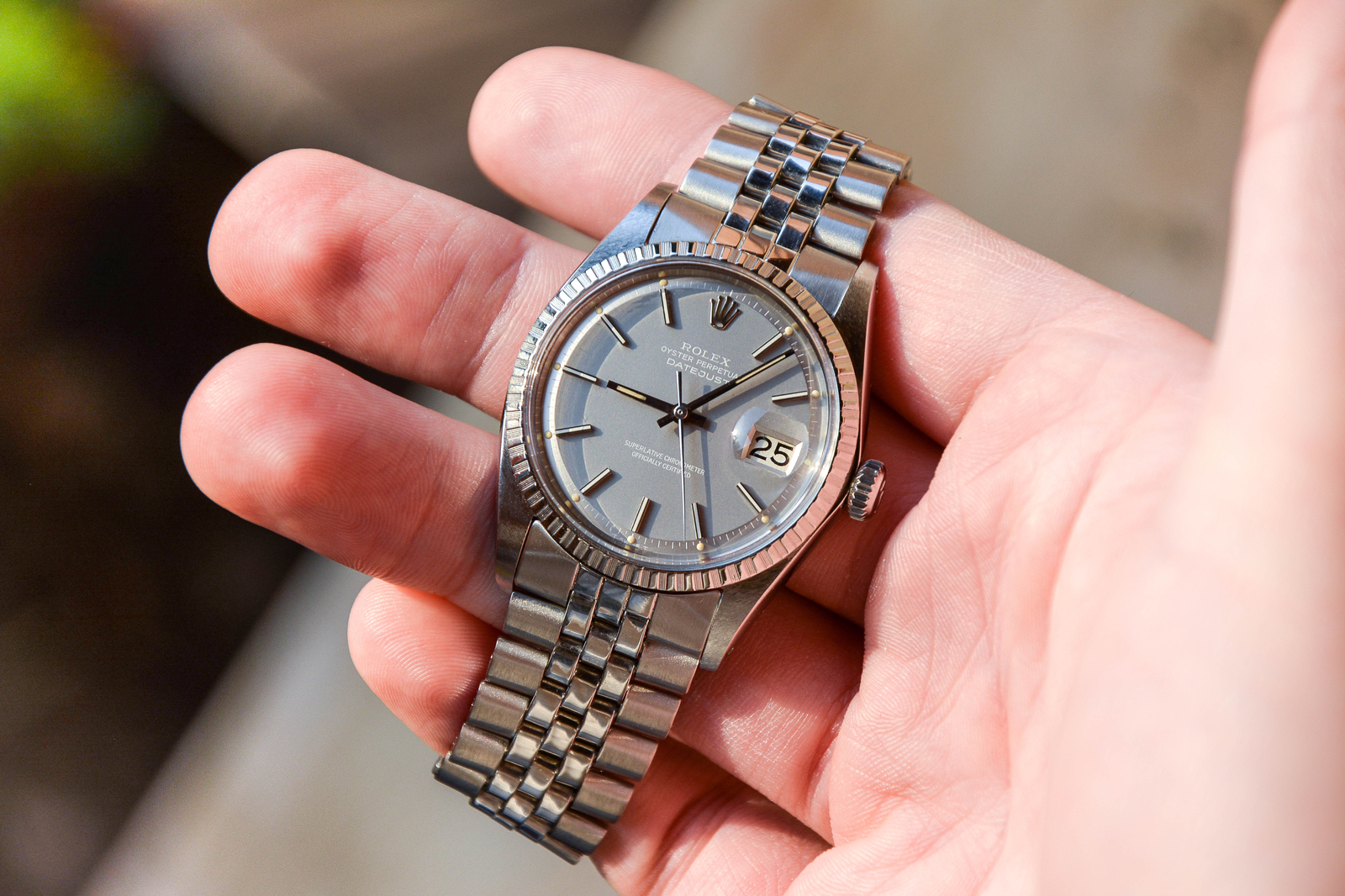 """Rolex Datejust '68 Cal. 1570 ref. 1603 """"Ghost Dial"""